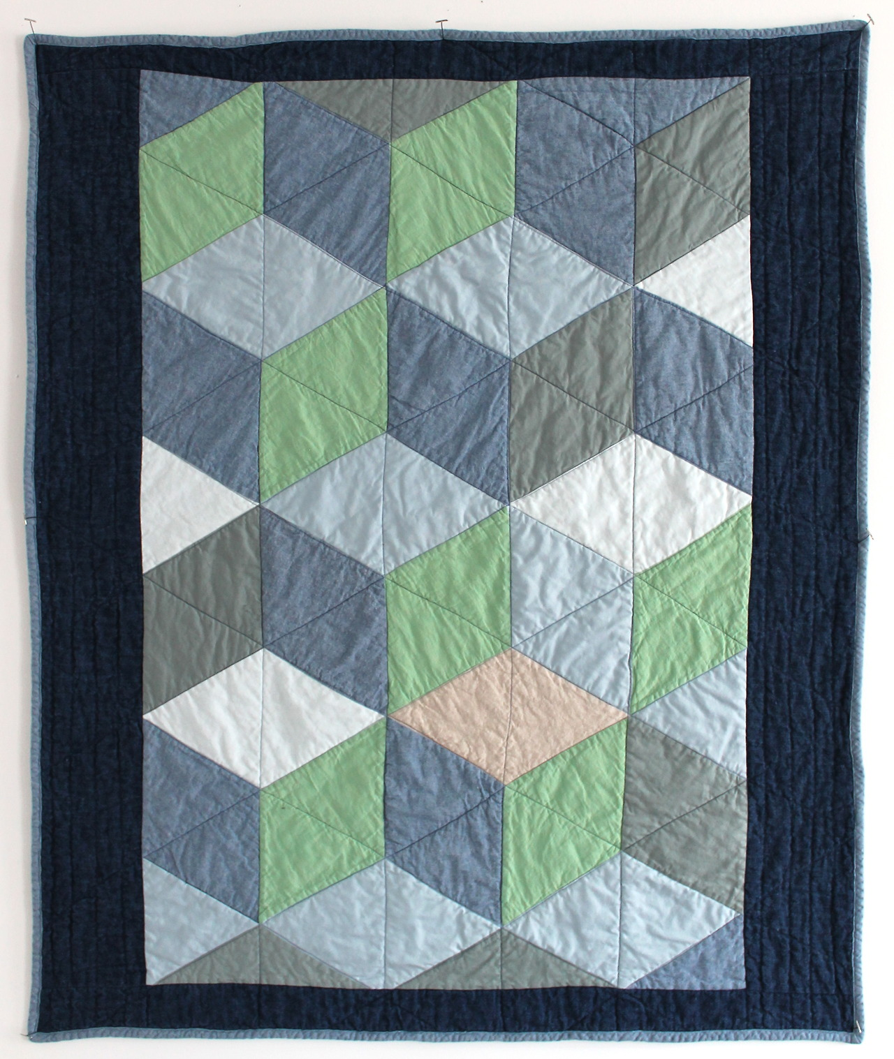 "Quilt equivalent of a ""breather"". 40"" x 46""  here."