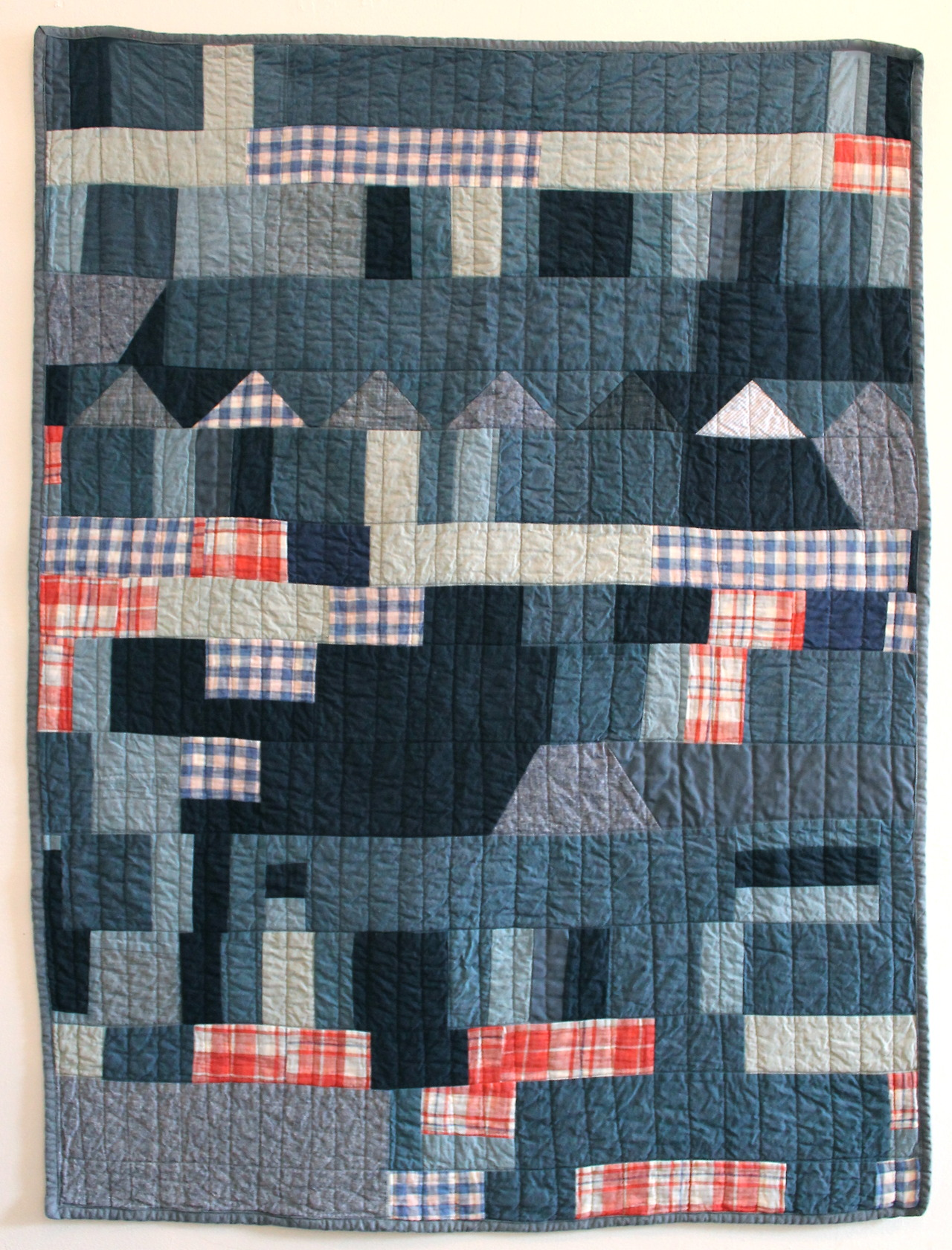 "Little Village Quilt - 37"" x 50""  here."