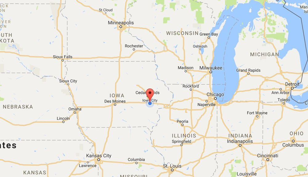 Iowa City, IA - On I-80 between Omaha and Chicago, this destination is easily accessible from anywhere in the US. If you're flying, we recommend the Cedar Rapids Airport (CID). A shuttle is available from the airport direct to the workshop site.