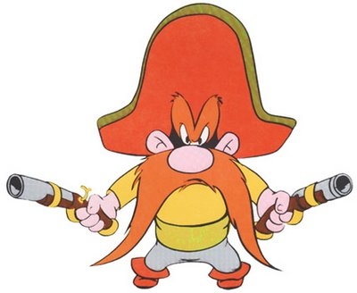 Yosemite Sam's itchin' to git out of this contract!