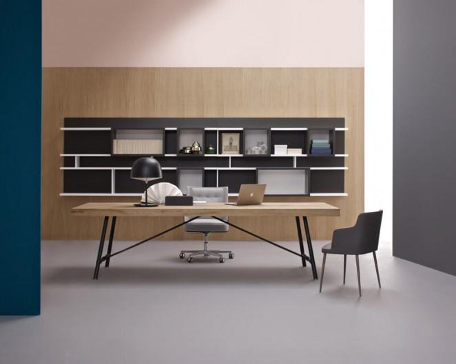 Mesa de oficina en madera Plombier