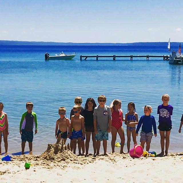 Jr. Fleet sandcastles. #clyc #upnorth