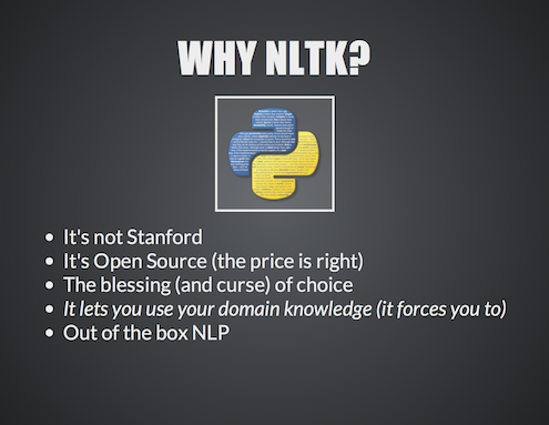 NLP of Big Data using NLTK and Hadoop12
