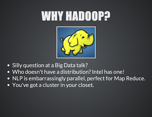 NLP of Big Data using NLTK and Hadoop13