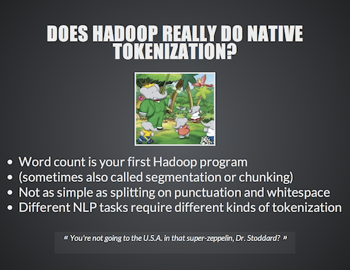 NLP of Big Data using NLTK and Hadoop22