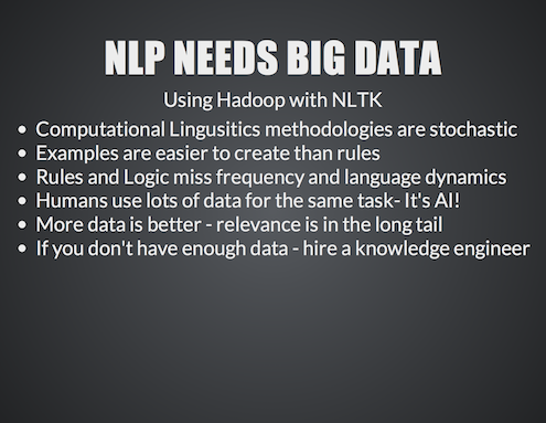 NLP of Big Data using NLTK and Hadoop6