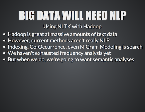 NLP of Big Data using NLTK and Hadoop8