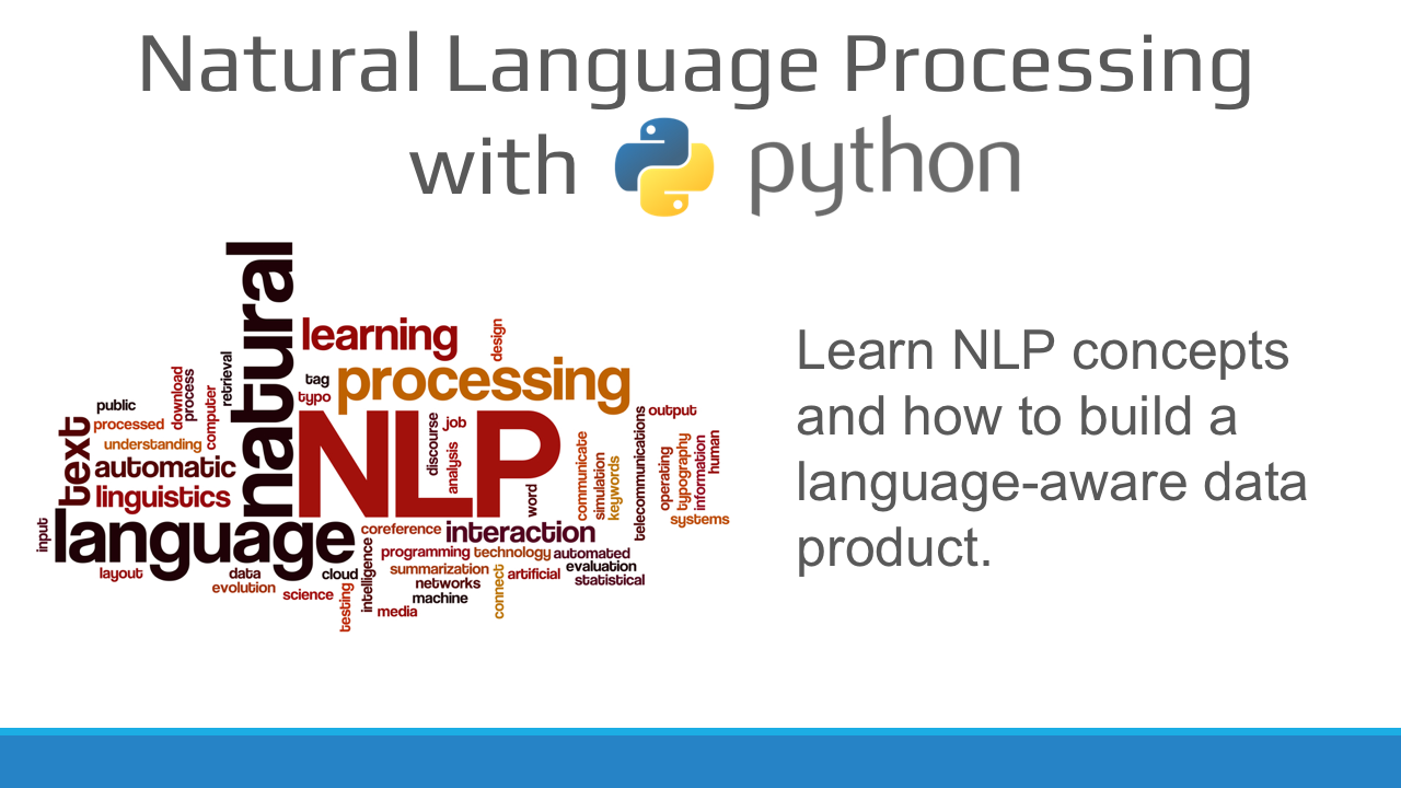 Natural Language Processing with Python Workshop on April