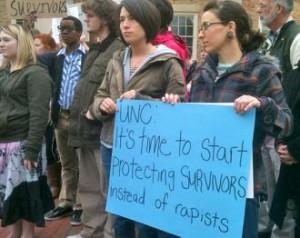 UNC rape protest