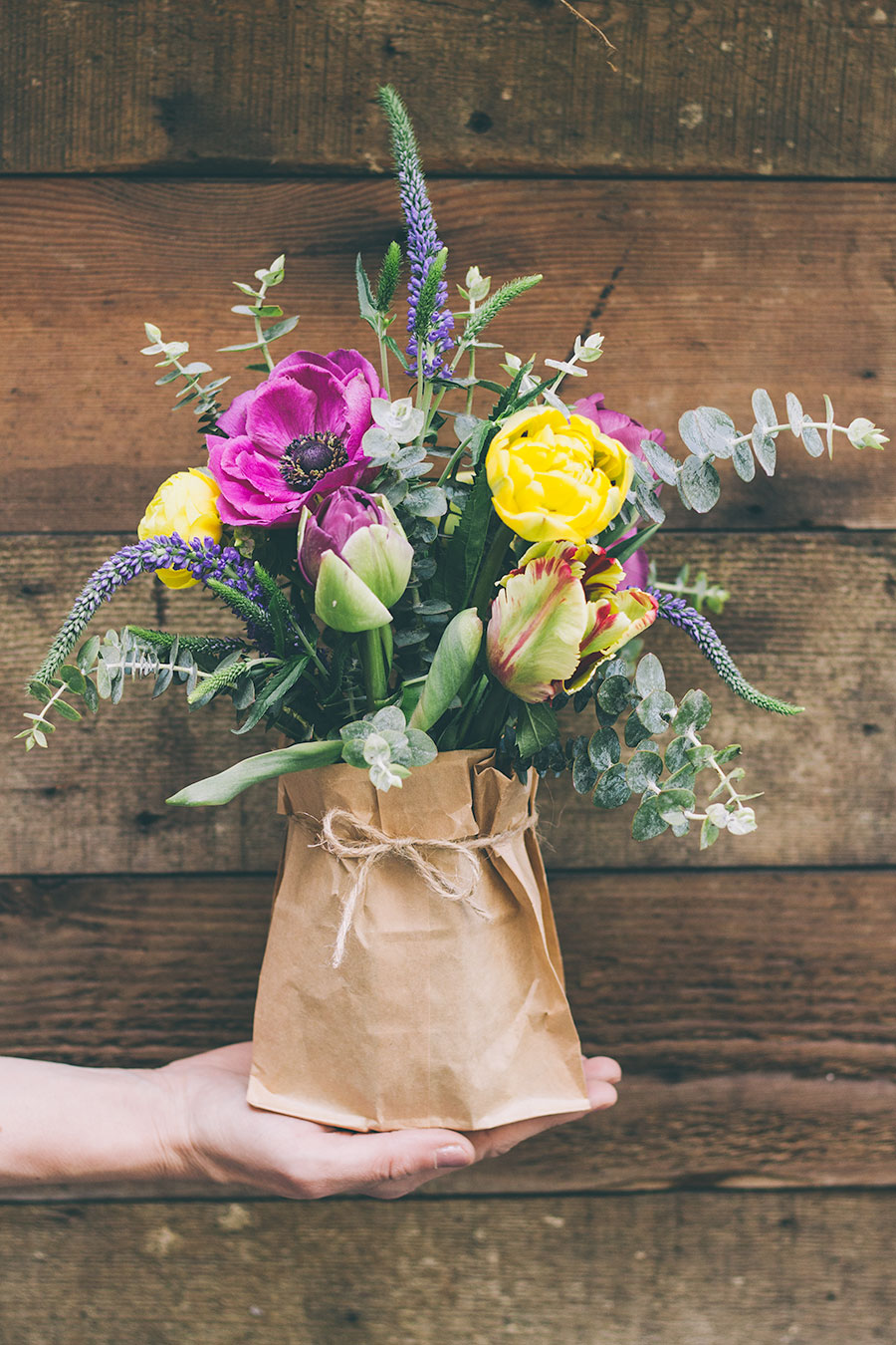 FOUR PRETTY MAY DAY BOUQUETS