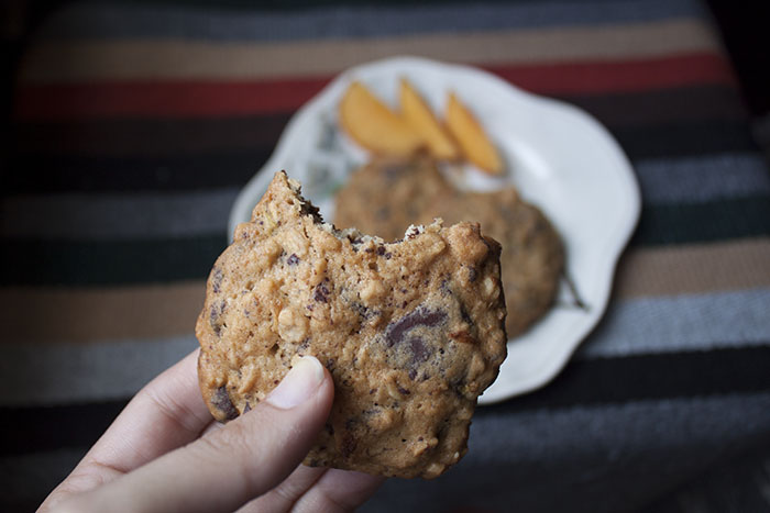 Dark Chili Chocolate Oatmeal Cookies