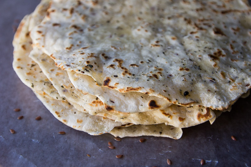 Basil and Flaxseed Tortillas