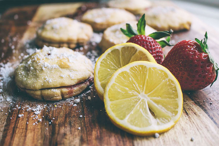 Strawberry Basil & Lemon Basil Hand Pies