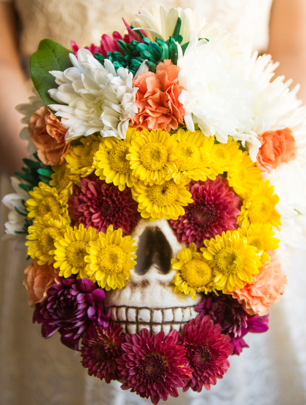 DAY OF THE DEAD FLOWER SKULL