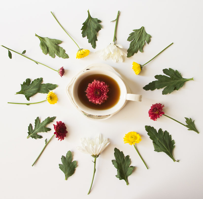 TEACUP FLOWER GARNISHES
