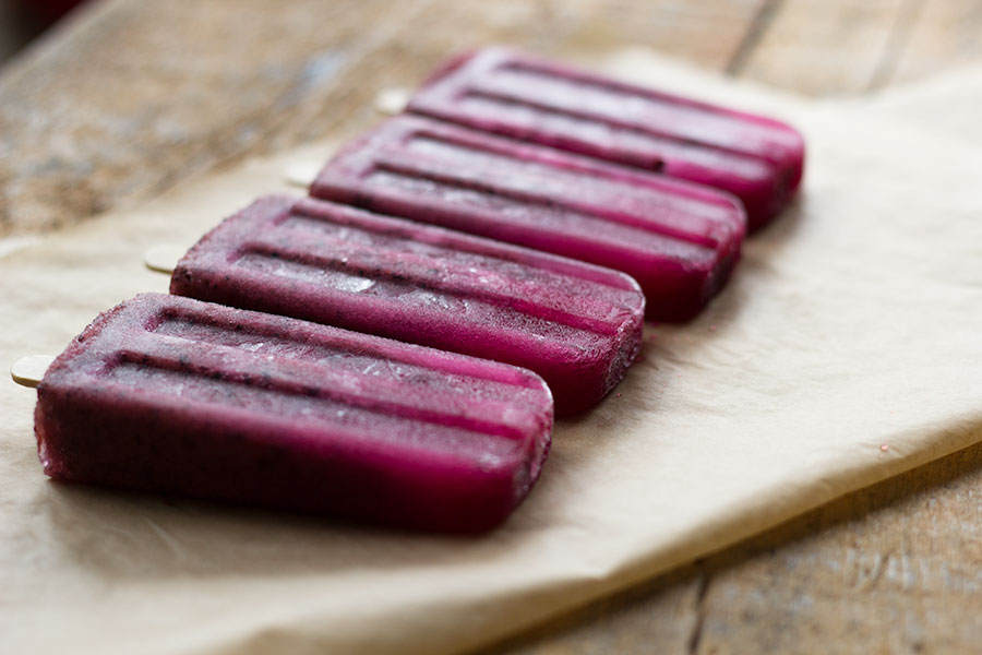 Blueberry and Honey Wellness Pops