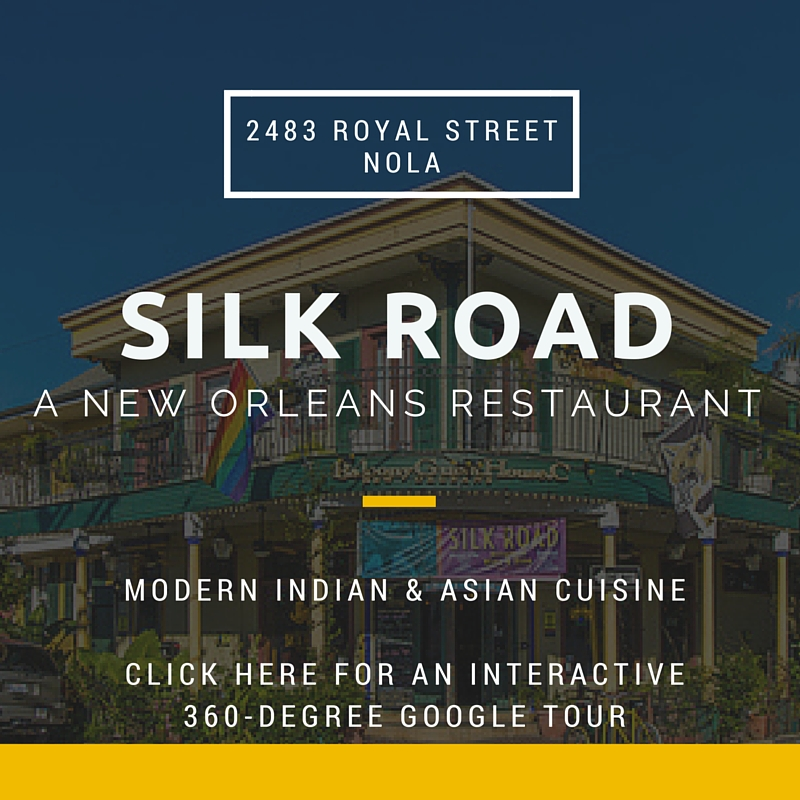 Click on the photo above for an interactive tour of the exterior and interior of Silk Road, A New Orleans Restaurant.