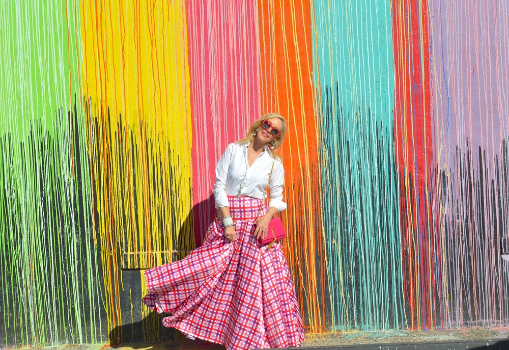 Pink Plaid Maxi Skirt for Breast Cancer Awareness