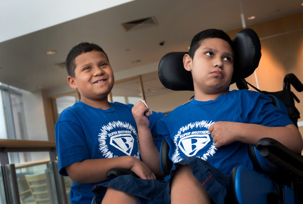 (Left to right) Brian (7) and Brandon (10), brothers who both have ALD. Brian may benefit from a new drug therapy that recently halted progression of ALD symptoms in 15 out of 17 boys.