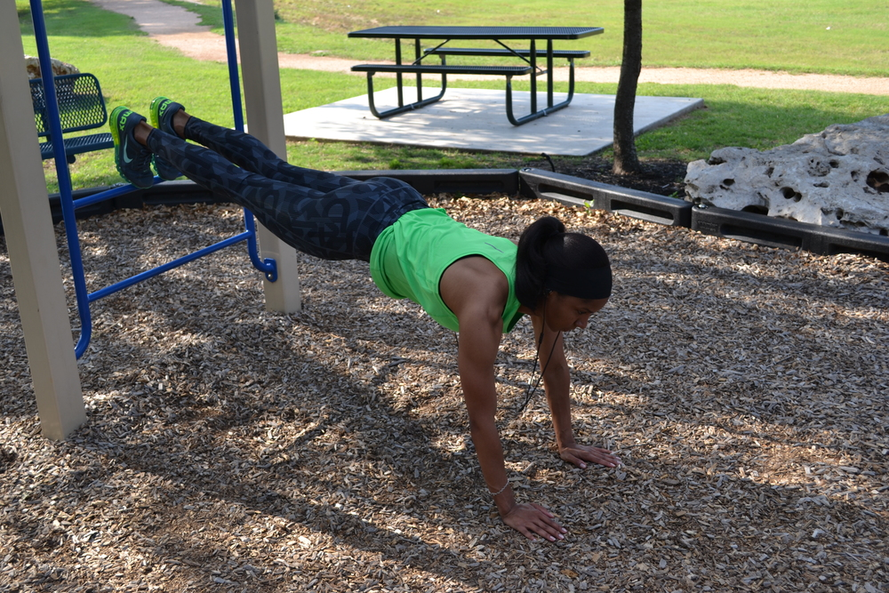 Toning up at the park instead of the gym presents you with a new and exciting environment.