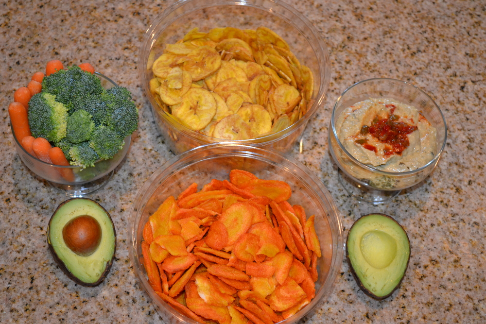 Snacks, snacks and more snacks - Consider these snack choices before reaching for those cookies and chips. Banana and carrot chips can be a tasty alternative to potato chips.