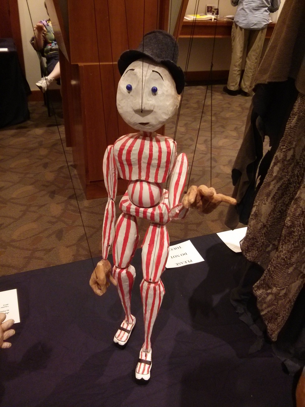 string puppet designed, built, carved and painted by Anna Fitzgerald