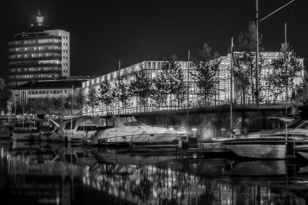 Yachthafen - Heilbronn bei Nacht