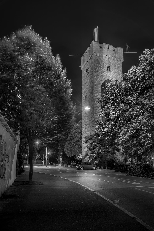 Götzenturm  - Heilbronn bei Nacht