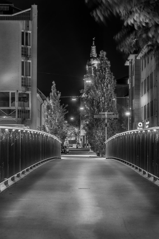 Adolf-Cluss-Brücke - Heilbronn bei Nacht