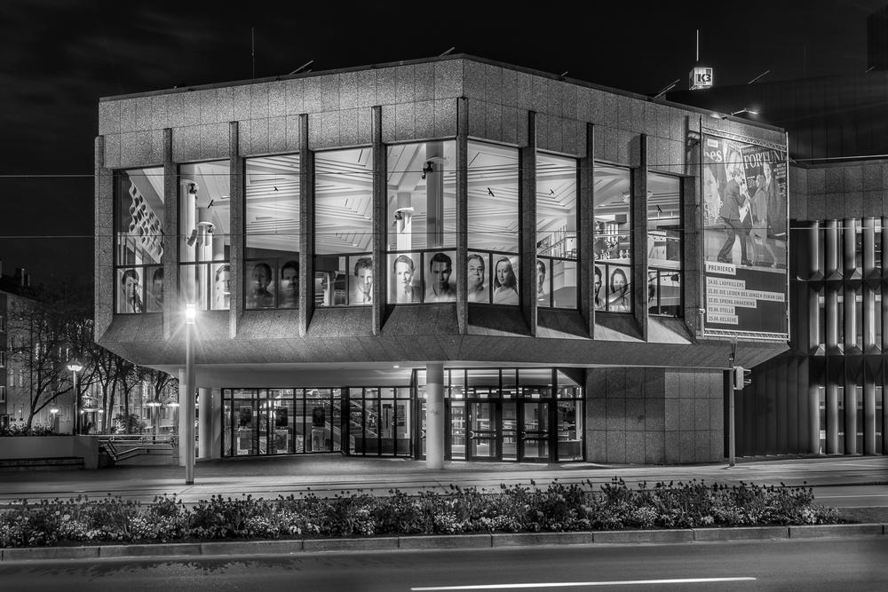 Theater am Berliner-Platz - Heilbronn bei Nacht