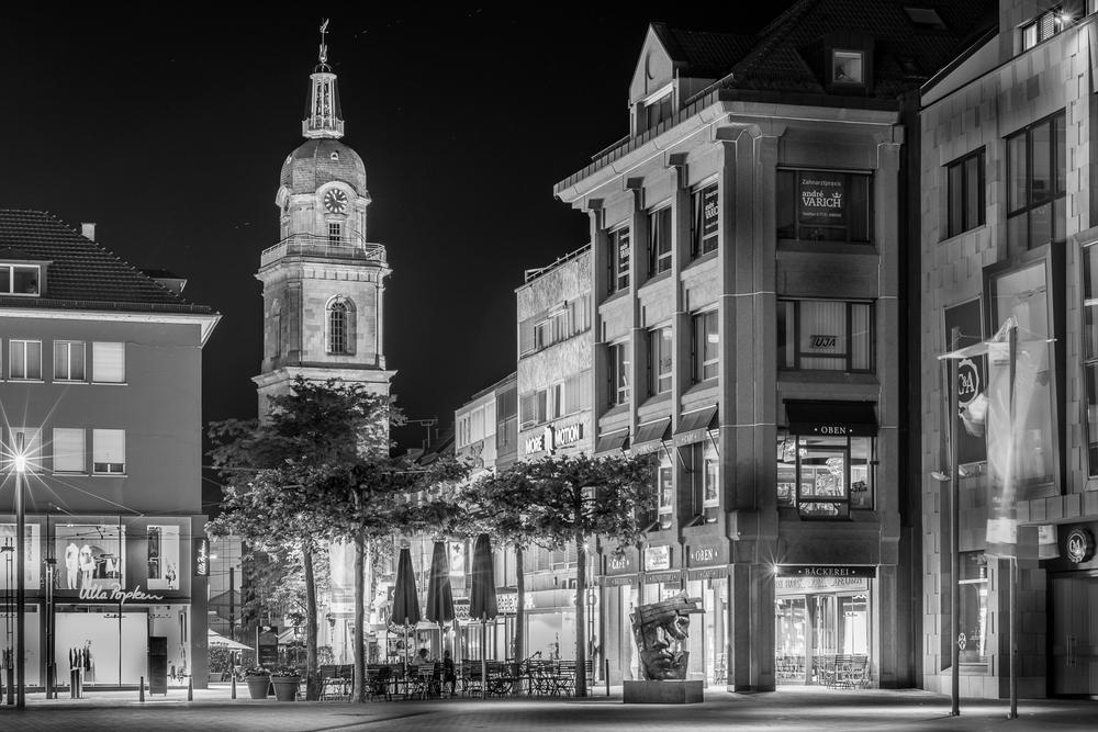 Hafenmarkt-Turm - Heilbronn bei Nacht