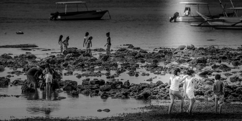 Low tide in Sabang, Puerto Galera, Oriental Mindoro, Philippines