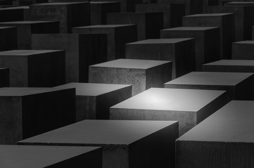 Holocaust Memorial In Black And White - Berlin Germany