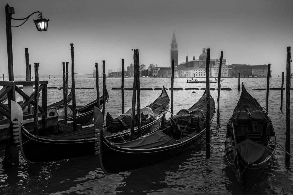 Venedig - Gondeln vor San Giorgio Maggiore #2