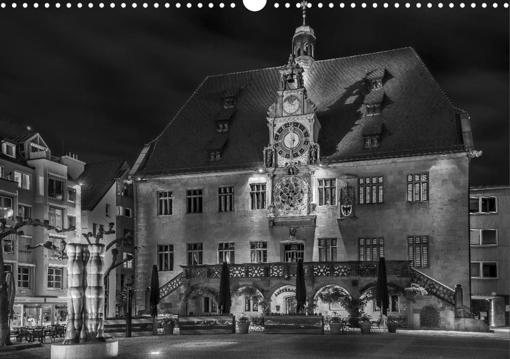 Posterbuch HEILBRONN BEI NACHT Rathaus Marktplatz
