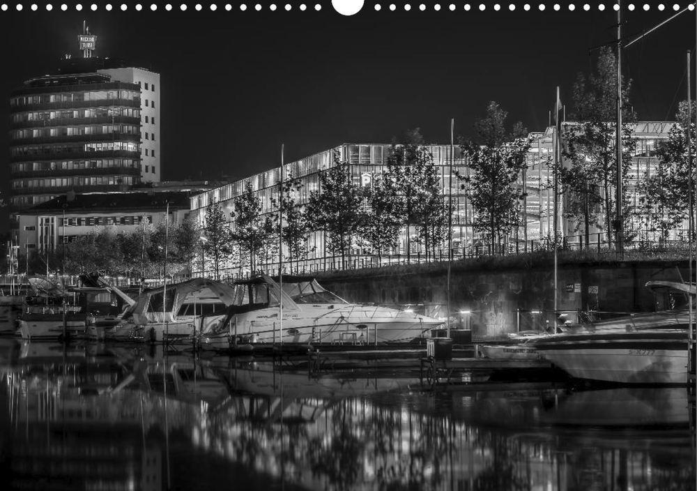 Posterbuch HEILBRONN BEI NACHT Yachthafen Experimenta Neckarturm