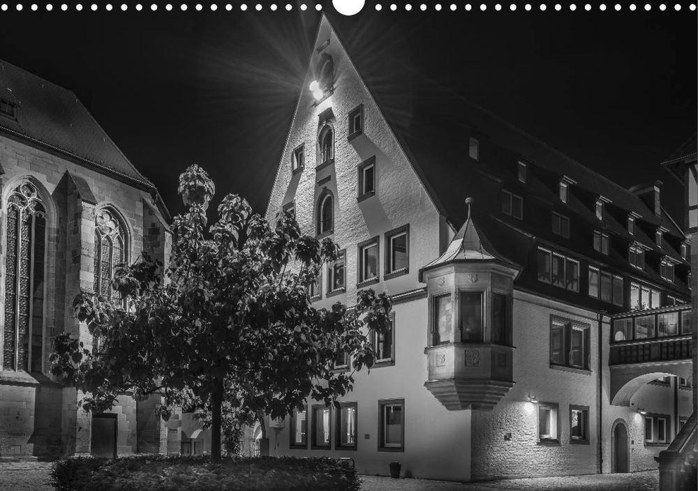 Posterbuch HEILBRONN BEI NACHT Deutschhof Innenhof