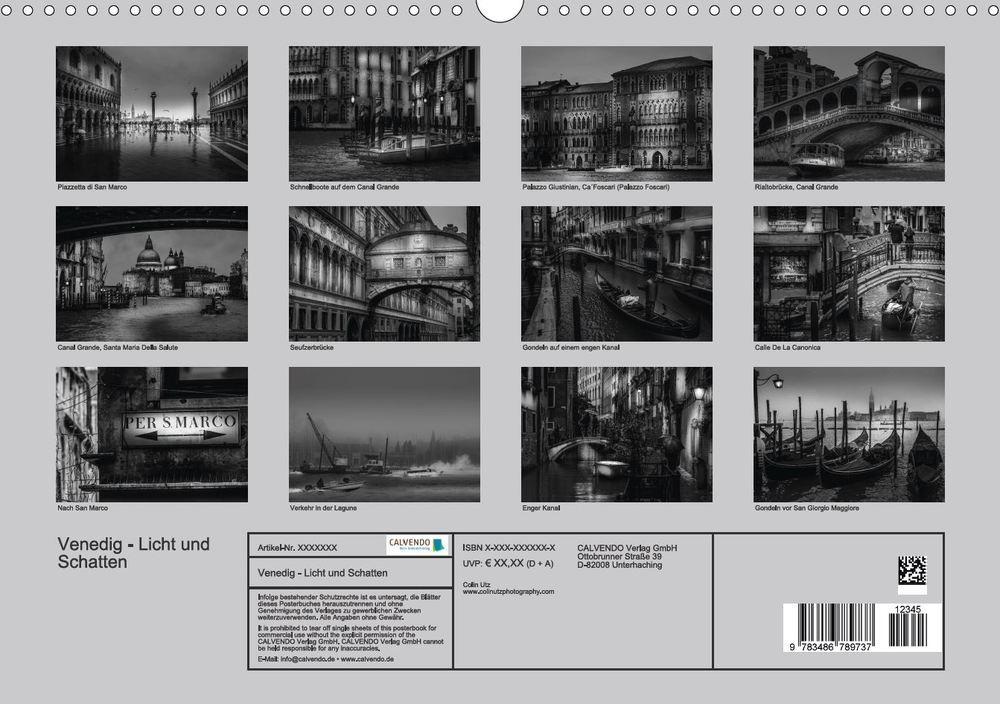 Posterbuch Venedig - Licht und Schatten