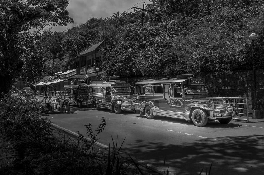 Jeepneys in Puerto Galera - Mindoro - Philippines - Philippinen