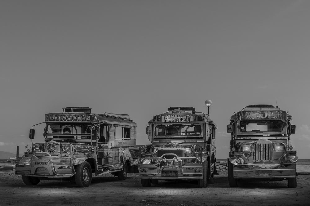 Jeepneys in Sabang, Puerto Galera - Mindoro - Philippines - Philippinen