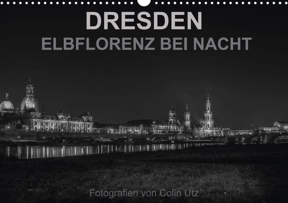 Kalender 2015, Dresden - Elbflorenz bei Nacht - Titelbild