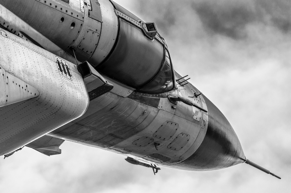 MiG-23 Flogger In Black And White