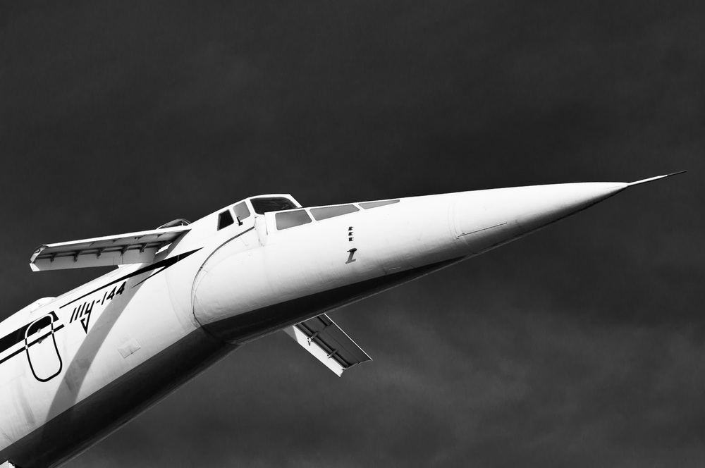 Supersonic airliner Tupolev Tu-144, Illy, Aeoroflot - Car & Technology Museum Sinsheim, South Germany