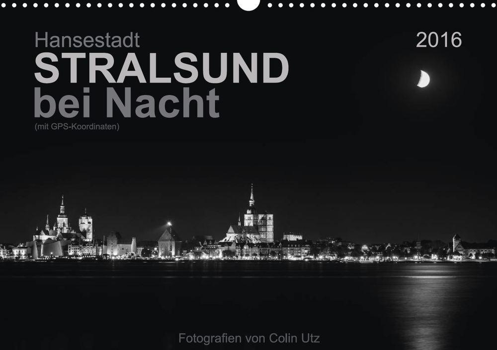 Kalender 2016 Hansestadt Stralsund bei Nacht