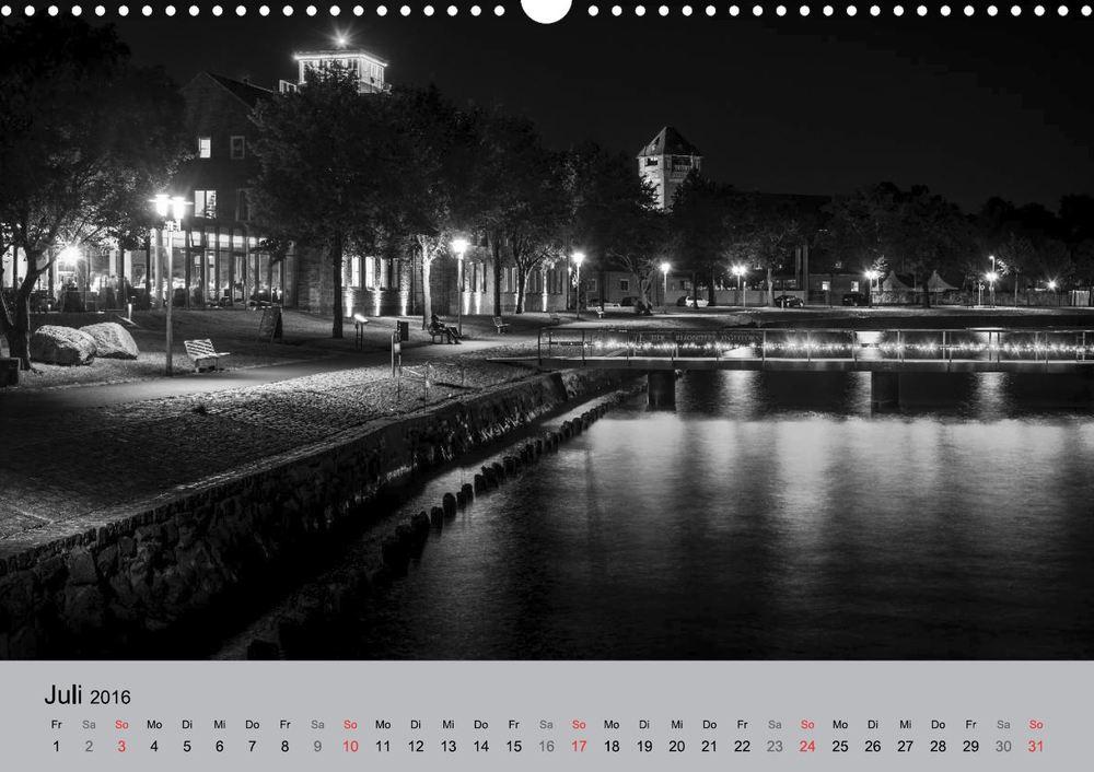 Kalender 2016 Hansestadt Stralsund bei Nacht Juli