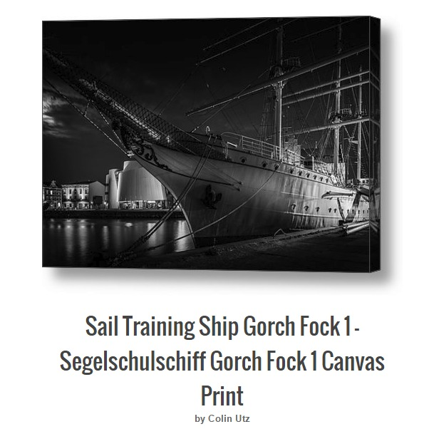 German Sail Training Vessel Square-Rigger Gorch Fock 1