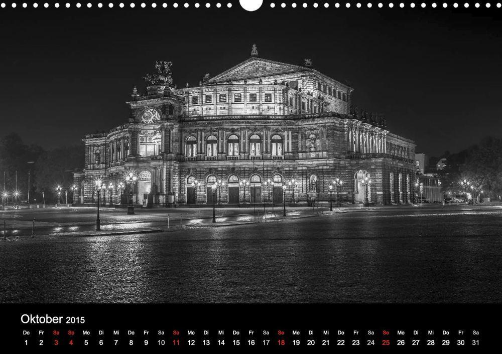 "Kalender ""Dresden bei Nacht"" - Semperoper Dresden"