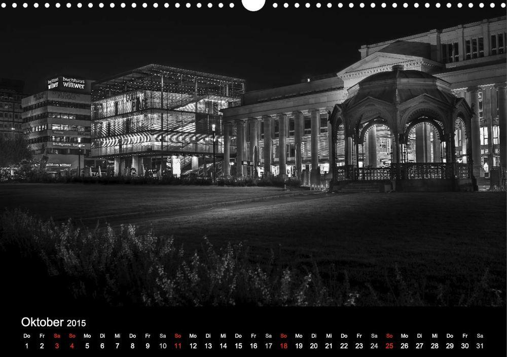 """Kalender """"Stuttgart bei Nacht"""" - Königsbau und Kunstmuseum"""