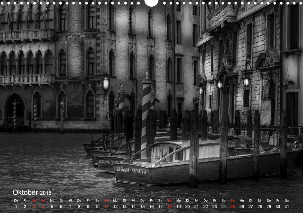 """Kalender """"Venedig - Licht & Schatten"""" - Schnellboote auf dem Canal Grande"""