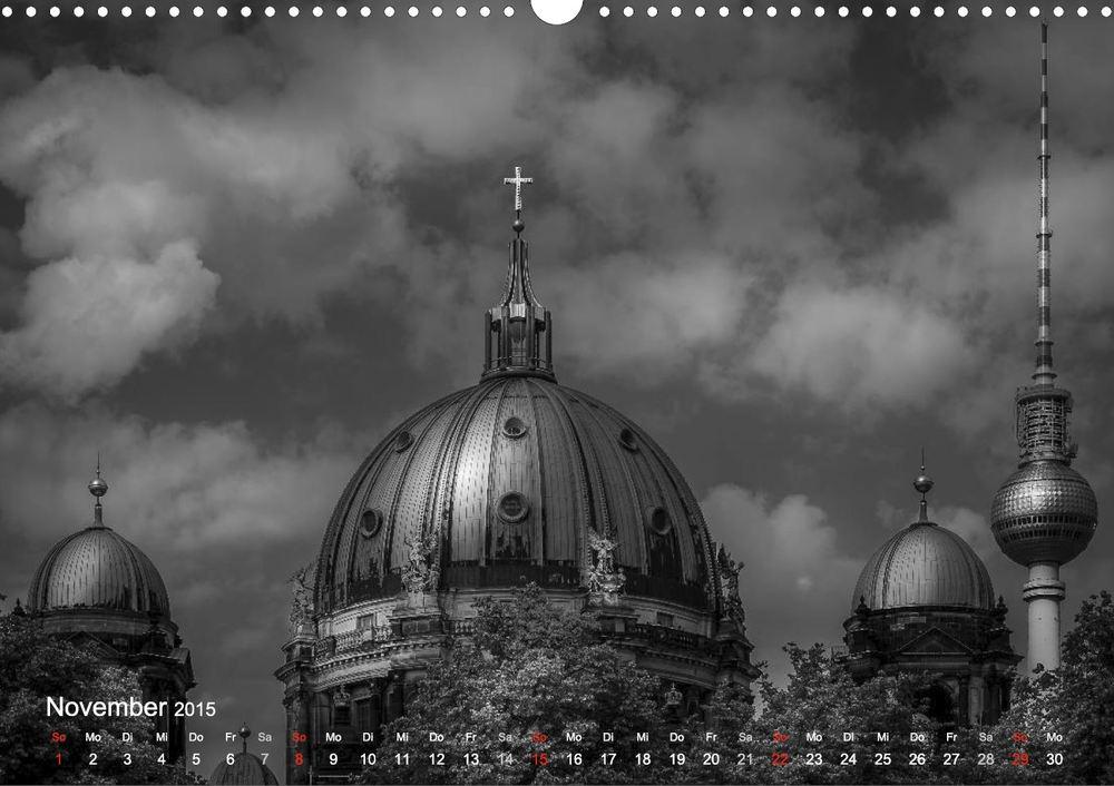 """Berliner Dom, Fernsehturm, Berlin - Aus meinem Kalender """"Berlin - Licht und Schatten"""""""